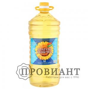Масло подсолнечное Золотая семечка рафинированное 3л
