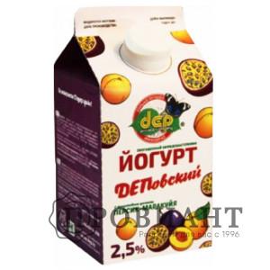 БиоЙогурт ДЕП персик-маракуйя 2,5% 0,5л БЗМЖ