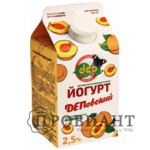 БиоЙогурт ДЕП абрикос 2,5% 0,5л БЗМЖ