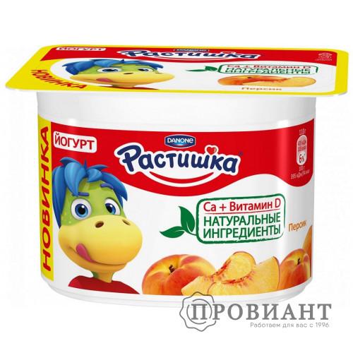 Йогурт Растишка персик 110г