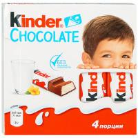 Шоколад молочный Kinder с молочной начинкой 4 порции