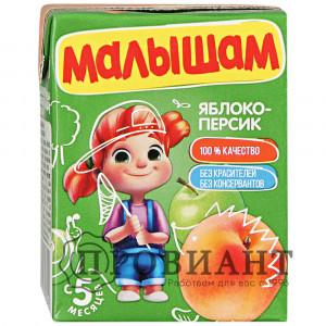 Нектар Малышам яблоко-персик 0,2л