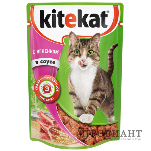 Корм для кошек Kitekat ягненок в соусе 85г