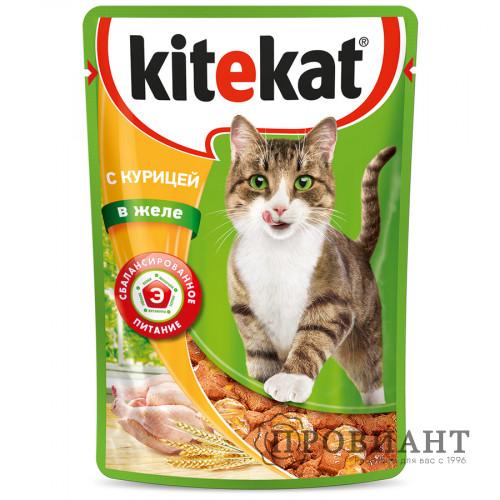 Корм для кошек Kitekat курица в желе 85г