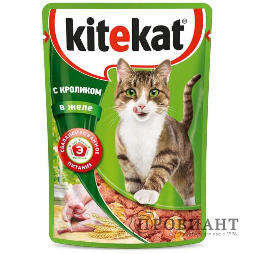Корм для кошек Kitekat кролик в желе 85г