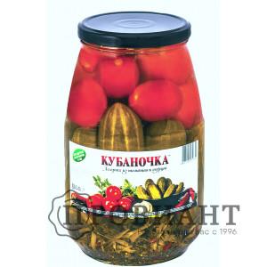 Ассорти из томатов и огурцов Кубаночка 1,5кг ст.б.