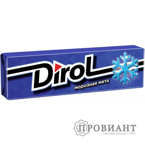 Жевательная резинка Dirol морозная мята 13,6г