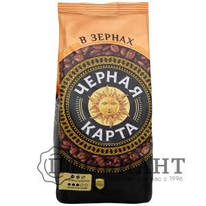 Кофе Черная карта зерновой 500г м.уп.