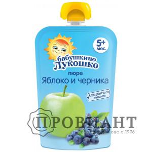 Пюре Бабушкино лукошко яблоко-черника 90г