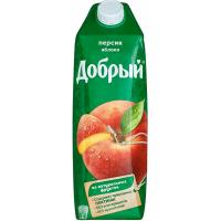Нектар Добрый яблоко-персик 1л