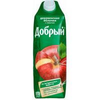 Нектар Добрый деревенские яблочки с мякотью 1л
