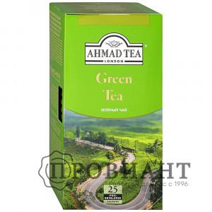 Чай Ahmad Tea Green Tea зеленый листовой мелкий 25п