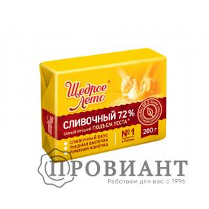 Маргарин Щедрое Лето Сливочный 72% 200г