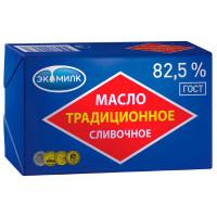 Масло сливочное Экомилк традиционное 82,5% 180г