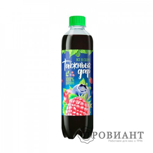 Газированный напиток Таежный дар  ягодное ассорти 0,5л