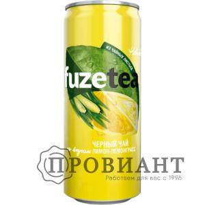 Холодный чай FuzeTea лимон лемонграсс ж/б 0,33л