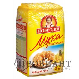 Мука Добродея пшеничная высший сорт 2кг