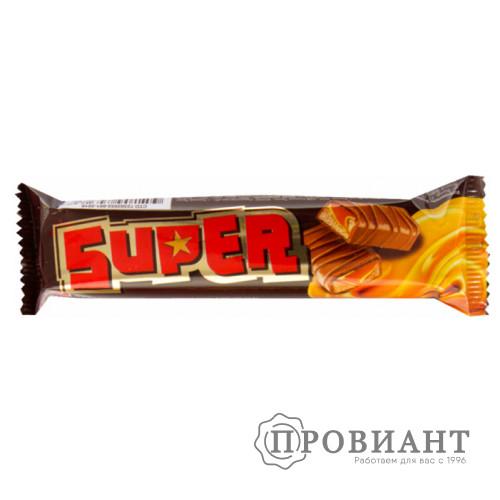 Батончик шоколадный Super молочный с карамелью 40г