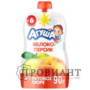 Пюре Агуша яблоко-персик 90г