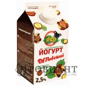 БиоЙогурт ДЕП лесной орех 2,5% 0,5л БЗМЖ