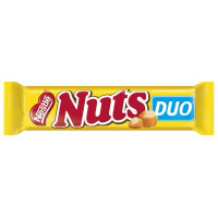 Батончик шоколадный Nuts DUO молочный карамель-нуга-фундук 66г