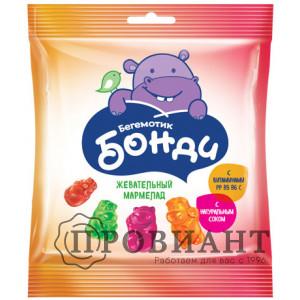Жевательный мармелад Бегемотик Бонди 30г