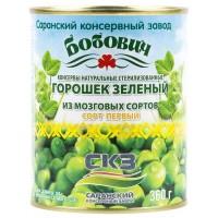 Горошек зеленый Бобович 360г