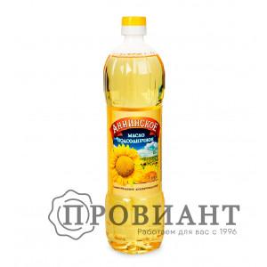 Масло подсолнечное Аннинское рафинированное 0,9л