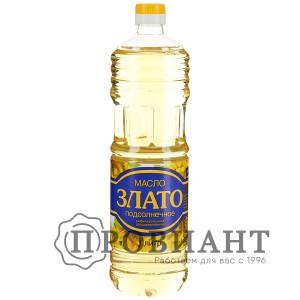 Масло подсолнечное Злато рафинированное 1л