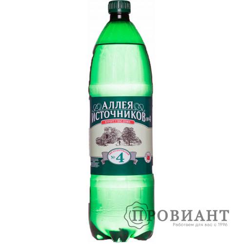 Вода минеральная лечебная Аллея источников №4 газ. 1,5л