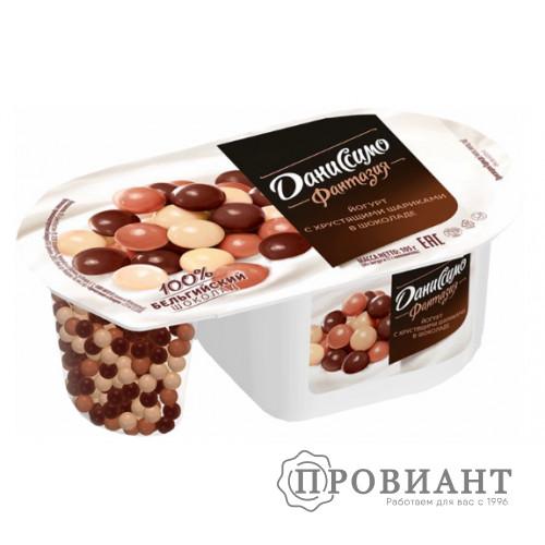 Йогурт Даниссимо Фантазия с шариками в шоколаде 105г