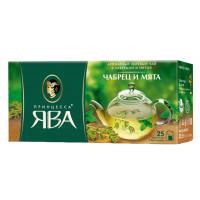 Чай зеленый Принцесса Ява чабрец и мята 25п