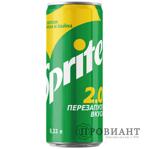 Газированный напиток Sprite лимон лайм ж/б 0,33л