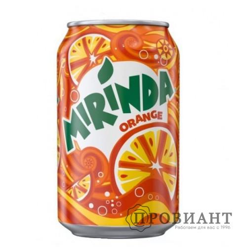 Газированный напиток Mirinda апельсин ж/б 0,33л