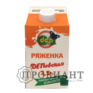 Ряженка ДЕП 2,5% 0,5л БЗМЖ