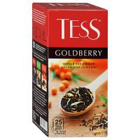 Чай Tess Goldberry чёрный с айвой и ароматом облепихи 25п