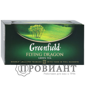 Чай Greenfield Flying Dragon зелёный байховый 25п