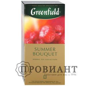 Чай Greenfield Summer Bouquet чёрный со вкусом малины 25п