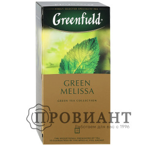 Чай Greenfield Green Melisa зелёный 25п