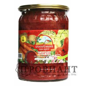 Борщ КрасноУфимск продукт со свежей капустой 500г