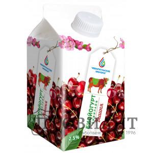 Биойогурт Бифилайф Чебаркульское молоко вишня 2,5%  0,5л БЗМЖ