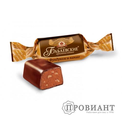 Конфеты Бабаевские Оригинальные с фундуком и какао (вес)