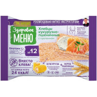 Хлебцы Здоровое меню кукурузно-пшеничные 90г