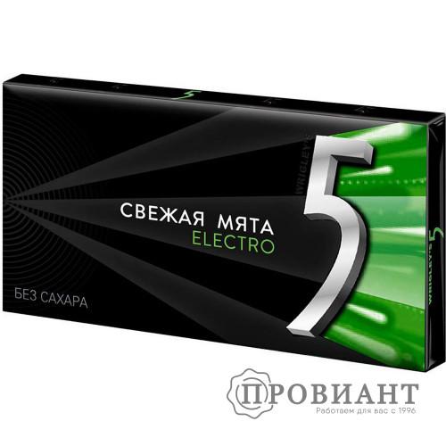 Жевательная резинка Five ELECTRO свежая мята 6пл