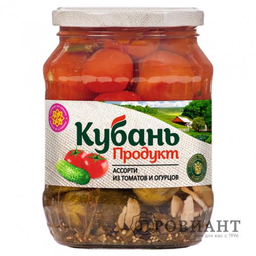 Ассорти из томатов и огурцов Кубань 680г