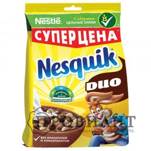 Завтрак готовый Nesquik DUO шоколадные шарики 250г