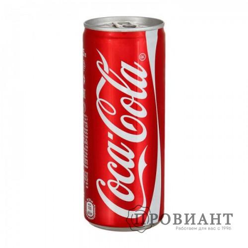 Газированный напиток Coca-Cola Classic ж/б 0,25л