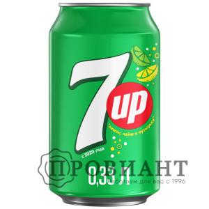 Газированный напиток 7-UP лимон лайм ж/б 0,33л