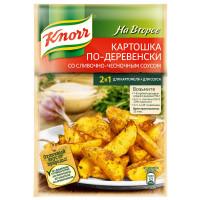 Приправа Knorr картошка по-деревенски со сливочно-чесночным соусом 28г